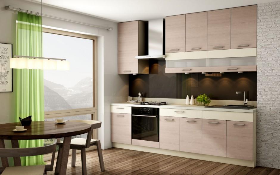Zabudowę pod sam sufit Kuchnia w małym mieszkaniu
