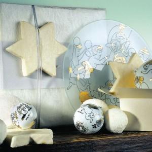 Porcelanowe bombki Golden Angels, których projektantem jest sam Andy Warhol, ucieszą osoby lubiące dobre wzornictwo i kultowy pop-art. Fot. Rosenthal.