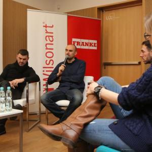 W dyskusji udział wzięli (od lewej): Krzysztof Małachowski - architekt wnętrz ze Studia ARCHIDA w Warszawie oraz Adam Bronikowski - architekt, współwłaściciel pracowni HOLA Design w Warszawie.