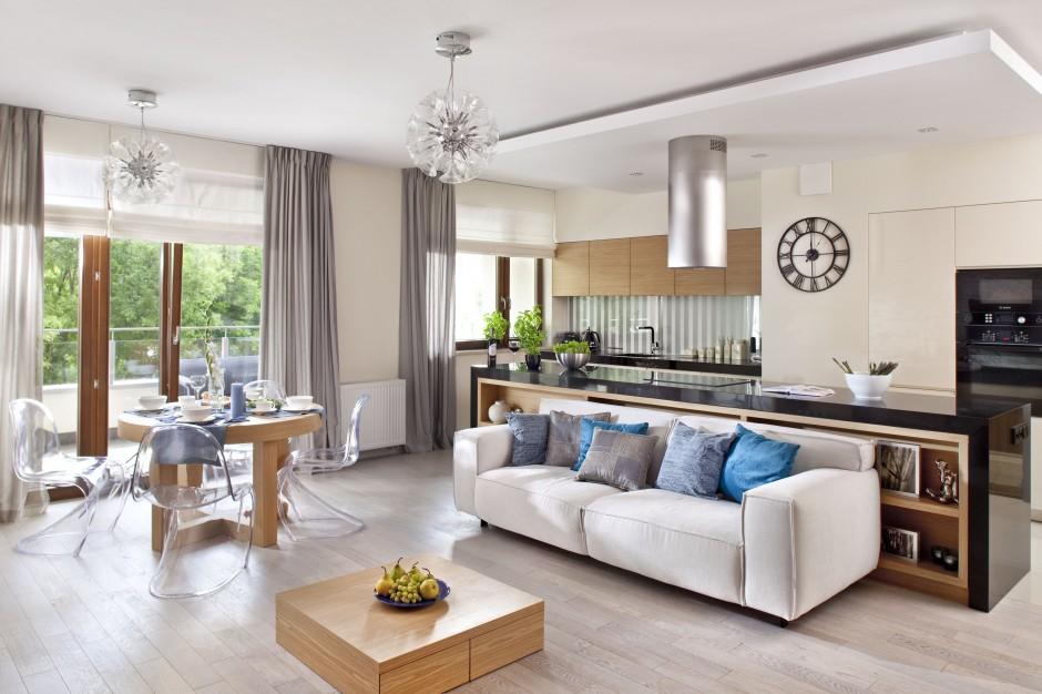 Mimo po czenia kuchni z nowoczesny salon tak for Cocina comedor integrados decoracion