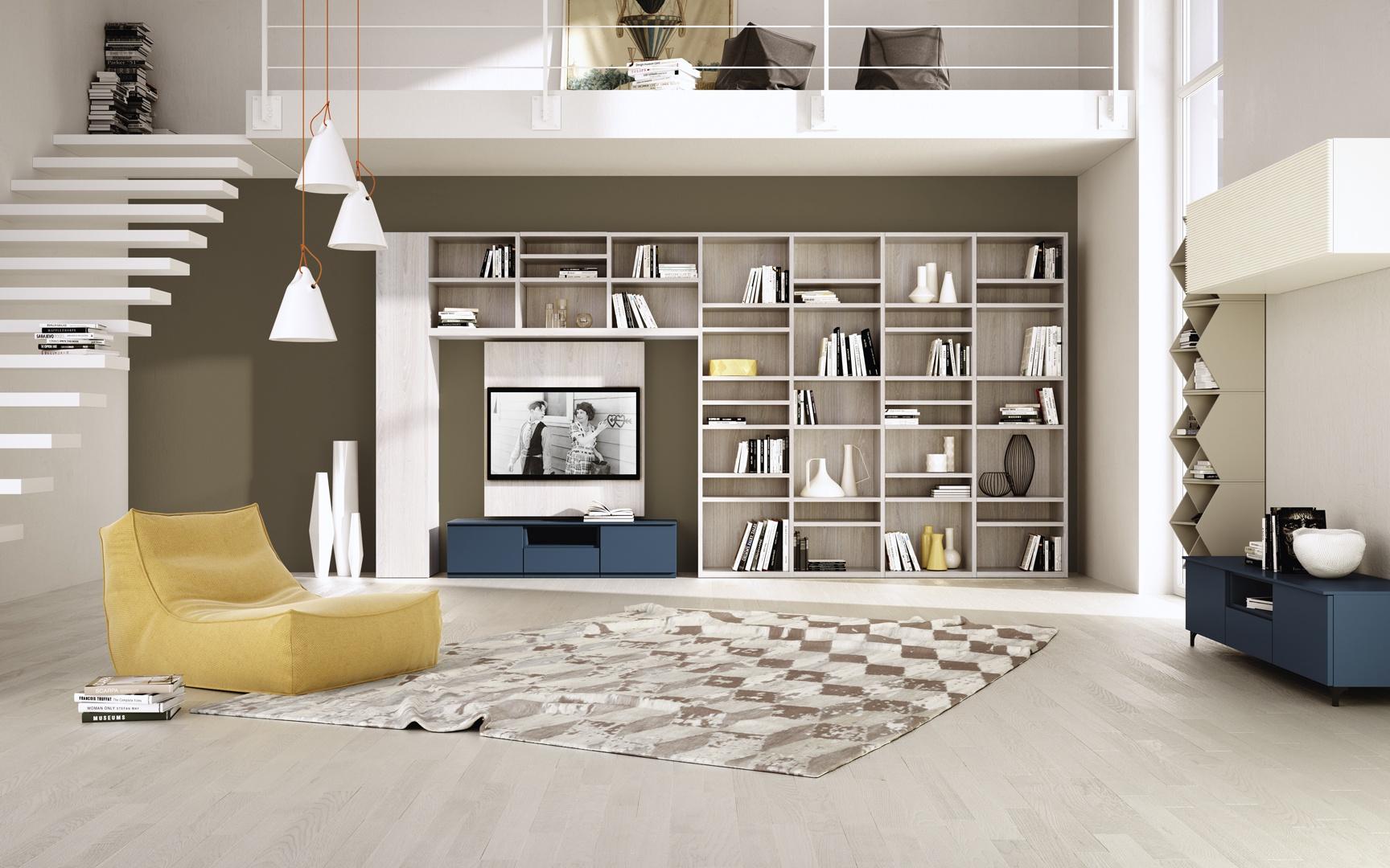 W zagospodarowaniu domowej domowa biblioteka urz d for Idee per salotti moderni