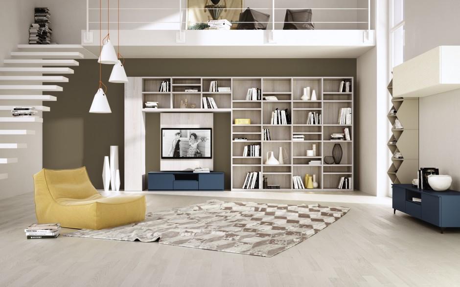 W zagospodarowaniu domowej domowa biblioteka urz d for Salotti in muratura
