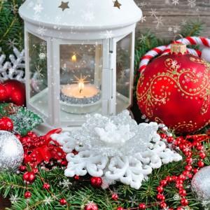 Duet czerwieni i bieli nawiązuje do tradycyjnej kolorystyki bożonarodzeniowej. Fot. Shutterstock.