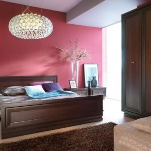 Intensywny kolor ścian dobrze komponuje się z ciemnymi, drewnianymi meblami oraz jasną podłogą. Fot. Black Red White.