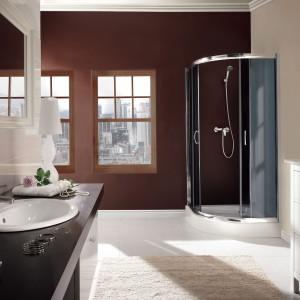 Cena: ok. 1.095 zł. Vanilla marki Deante to narożna, dwudrzwiowa kabina prysznicowa. Fot. Deante.