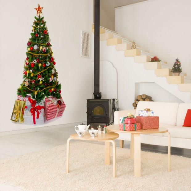 Piękne ściany: ciekawe, świąteczne dekoracje