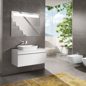 Nowoczesne i eleganckie meble  z kolekcji Venticello Villeroy&Boch to propozycja do nowoczesnych łazienek. Fot. Villeroy&Boch.