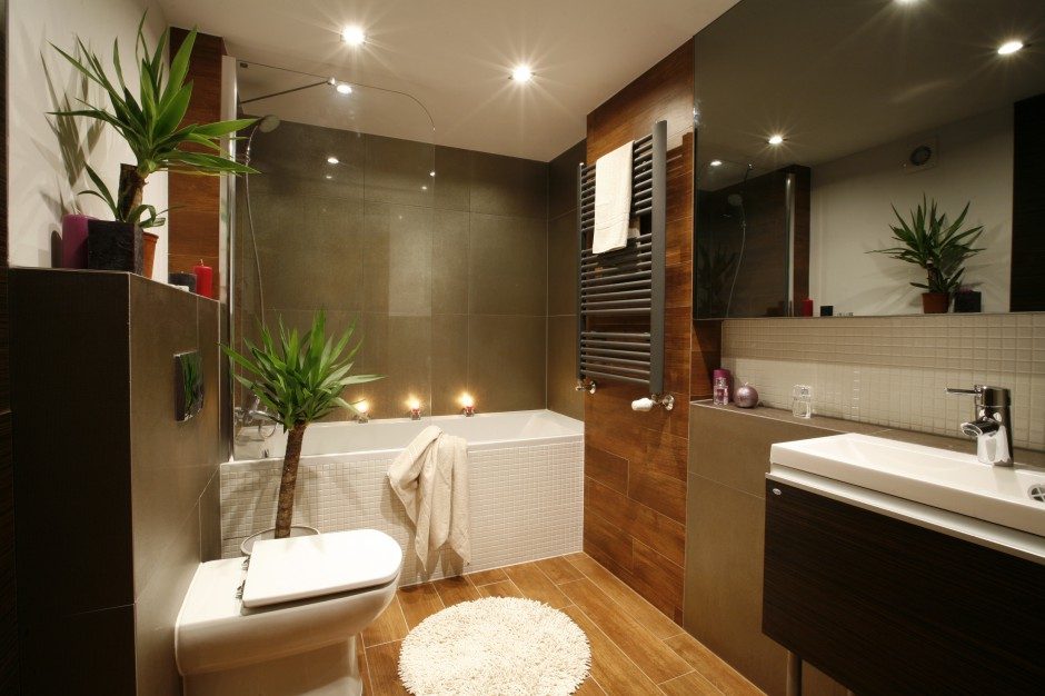 ciep e kolory naturalne azienka w stylu spa pi kne wn trza z polskich dom w strona 5. Black Bedroom Furniture Sets. Home Design Ideas