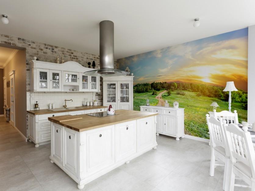Fototapeta z pięknym, 15 pomysłów na ściany w kuchni   -> Kuchnie I Tapety