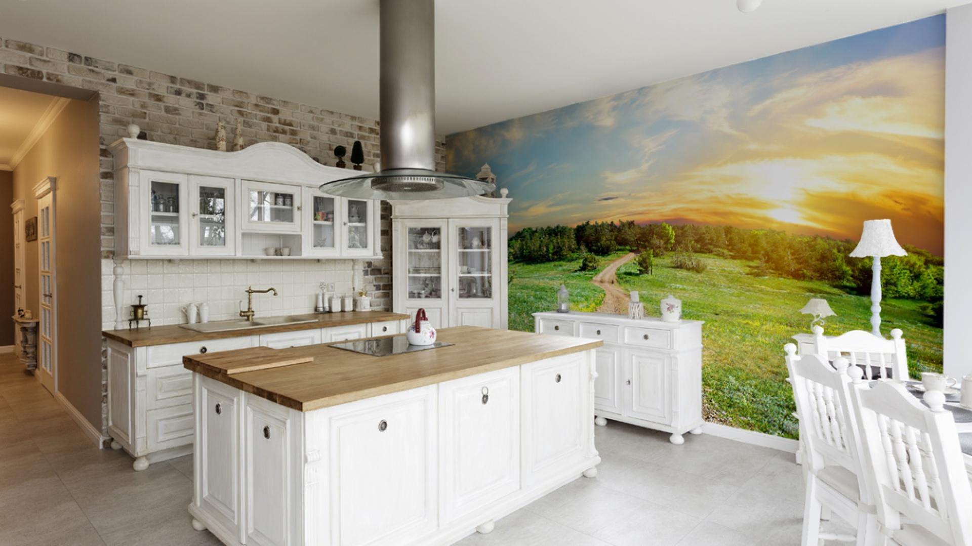 fototapeta z pięknym 15 pomys�243w na ściany w kuchni