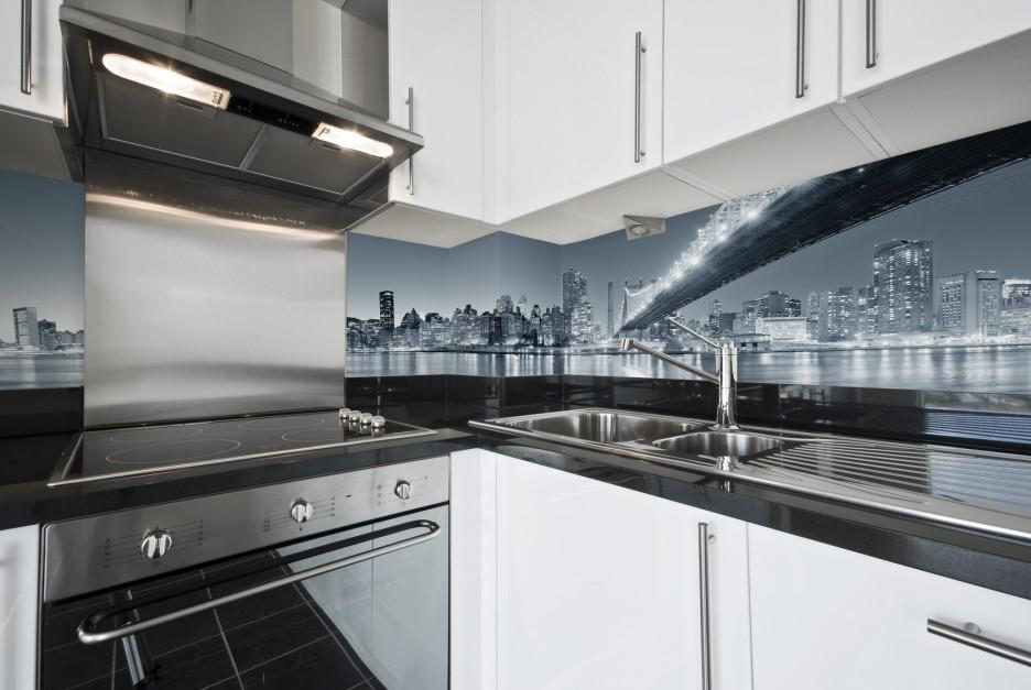 Laminowana tapeta winylowa 15 pomysłów na ściany w kuchni tapety i foto