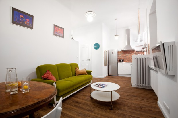 Eklektyczne wnętrza Zobacz więcej! -> Otwarta Kuchnia Male Mieszkanie