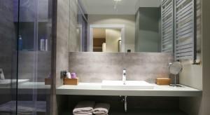 Modne szarości, surowe tynki, przecierane faktury i nowoczesne, proste formy wyposażenia. Do tego stylowe oświetlenie oraz kilkaindustrialnych akcentów wystarczy, aby stworzyć łazienkę w stylu loft.