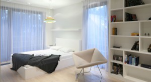 Tkaniny we wnętrzu odgrywają bardzo ważną rolę. Dzięki dekoracyjnym poduszkom, narzutom czy zasłonom sypialnia nabiera wyjątkowego charakteru.