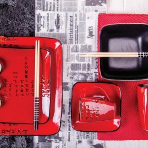 Powiew orientu na przyjęciu można uzyskać także dzięki zastawie od Home&You. Inspirowane Japonią talerze, miseczki i kubki sprawdzą się na co dzień i na przyjęciu - zwłaszcza takim z karnawałowymi przebraniami. Fot. Home&You.
