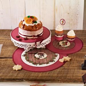 Serwety pod torty to znakomity pomysł na urozmaicenie słodkości podawanych na przyjęciu. Serwowane ciasto od razu wygląda bardziej elegancko i apetycznie. Fot. Birkmann.