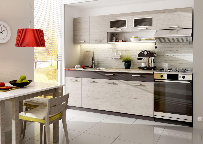 Zestaw mebli kuchennych Mała kuchnia meble na jedną ścianę Propozycje