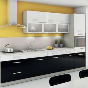 Cuba Libre to nowocześnie zaprojektowane meble kuchenne marki Layman, w przystępnej cenie. Eleganckie połączenie czerni i bieli gwarantuje modny wygląd kuchni przez wiele lat. Fot. Layman.