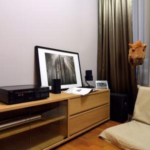 Mniejsza sypialnia, może pełnić funkcję pokoju gościnnego lub kącika do relaksu i poczytania książki. Urządzono ją w przytulnym, japońskim stylu. Projekt: KNQ Associates. Fot. KNQ Associates.