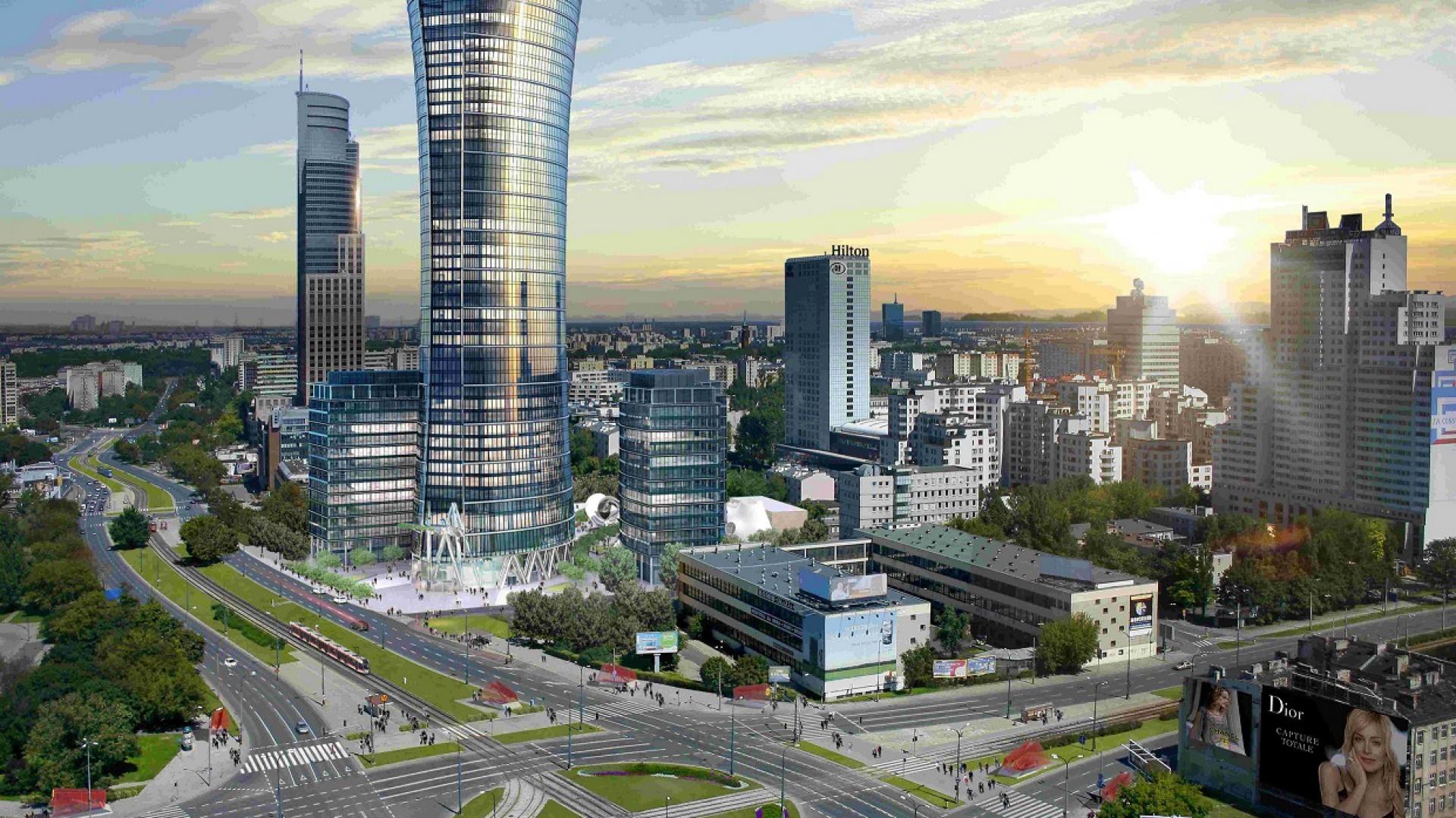 Ghelamco Warsaw Spire - wizualizacja. Fot. Archiwum
