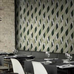 Kamień Bambu' Foresta. Modułowa formuła umożliwia tworzenie dekoracyjnych wzorów opartych na geometrycznych kształtach. Fot. Lithos Design.
