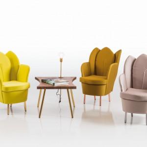 Inspiracje  naturą mogą przybierać różnorodne formy. Fotele o kształcie rozkwitających tulipanów na pewno przypadną do gustu wszystkim paniom. Fot. Bruhl.