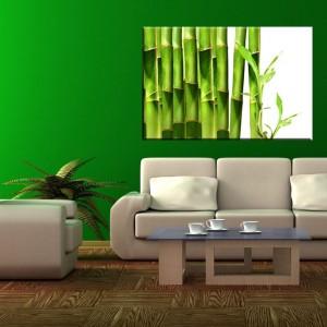 Modny motyw z zielonymi babusami o uspokajającym wydźwięku. Nie tylko ozdobi  wnętrze, ale wprowadzi do niego odrobinę harmonii. Do kupienia w sklepie AgatonStudio, cena od 120 zł - w zależności od wymiaru. Fot. AgatonStudio.