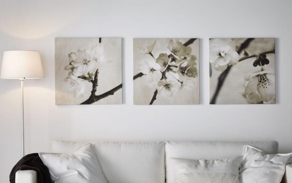 Kwitn cy krzew to wdzi czny ciana w salonie obrazy for Wandbilder ikea