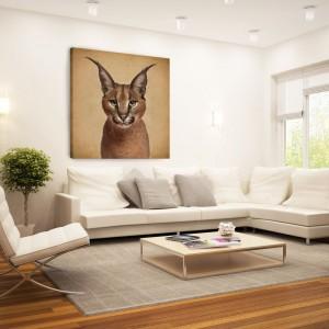 Ściana w salonie. Obrazy inspirowane naturą