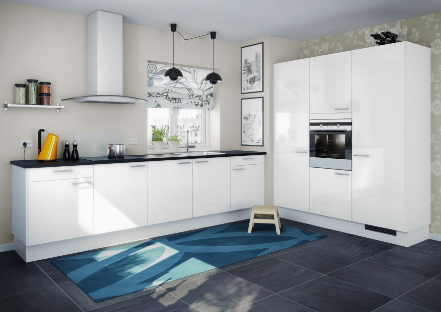 Białe meble utrzymane we Elegancka, biała kuchnia   -> Biala Kuchnia Elegancka