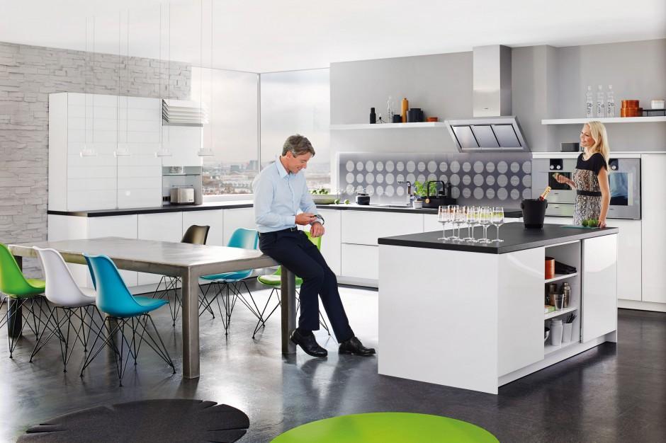 Białe meble kuchenne z Elegancka, biała kuchnia   -> Biala Kuchnia Elegancka
