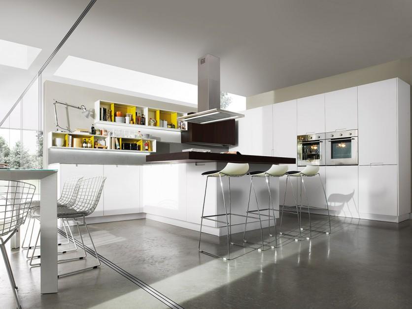 Białe meble przełamuje Elegancka, biała kuchnia   -> Biala Kuchnia Elegancka