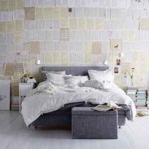 Tapicerowane łóżko Årviksand ze zdejmowanym, praktycznym pokryciem, które w każdej chwili możemy zdjąć i wyprać. Fot. IKEA.
