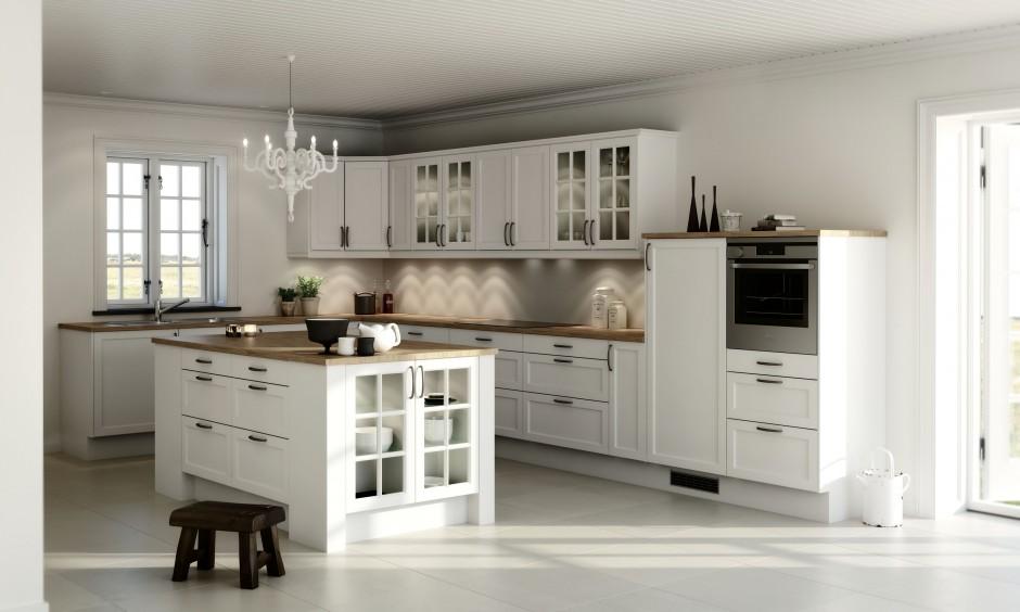 Przepiękne stylizowane Kuchnia w stylu klasycznym   -> Kuchnia Prowansalska Z Wyspą
