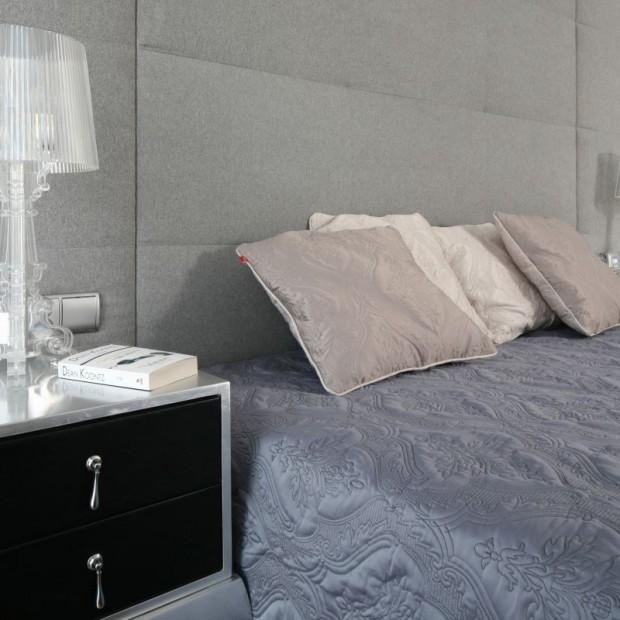 Szara sypialnia. Zobacz eleganckie wnętrze