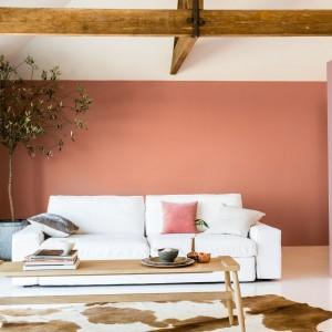 Miedziany Oranż symbolizujący ciepło i harmonię, w połączeniu z ciepłymi barwami neutralnymi, bielą, różami oraz innymi odcieniami pomarańczowymi, tworzy wyjątkowe przestrzenie. Dzięki dodatkowi szlachetnej miedzi, doskonale łączy się również z odcieniami metalicznymi. Fot. Dulux.