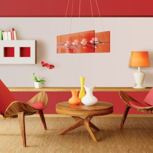 Farba Cherry Cotton Candy marki Beckers Colour Designer. Żywym kolorem można wyróżnić np. jadalnianą cześć salonu. Fot. Beckers Colour Designer.