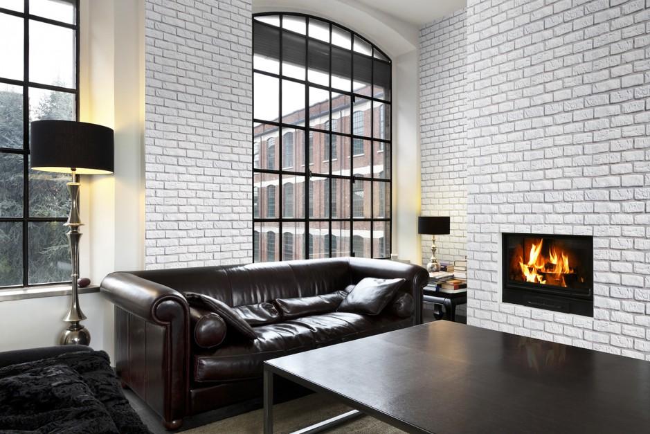 Kolekcja kamieni loft bia a ceg a w salonie 15 for Biala cegla w salonie