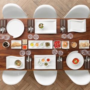 Kolekcja NewWave od Villeroy&Boch pozwoli stworzyć wiele ciekawych aranżacji stołu, przyda się także do serwowania walentynkowych afrodyzjaków. Fot. Villeroy&Boch.
