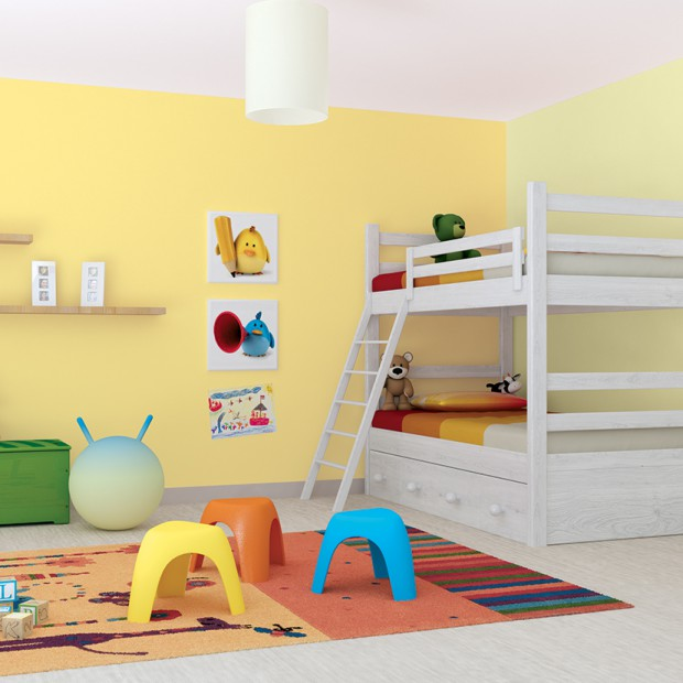 Ściany w pokoju dziecka - przegląd farb