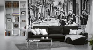 Fototapeta to ciągle modny sposób na dekorację ściany w salonie. W naszej galerii znajdziecie bardzo ciekawepropozycje w modnych wzorach i kolorach.