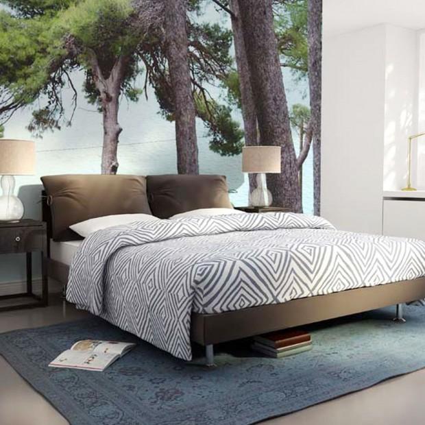 Ściany w sypialni - wykończ je tapetą lub fototapetą. 15 pięknych kolekcji