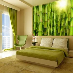 Miłośnikom egzotyki z pewnością przypadnie do gustu fototapeta marki Minka, która wyczaruje w sypialni prawdziwy bambusowy las. Fot. Minka.