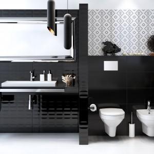 Kolekcja Pret a Porter marki Opoczno. Stylowe połączenie bieli i czerni oraz dekoracyjna trójwymiarowa powierzchnia. Fot. Opoczno.