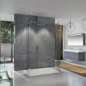 Szarości to idealne odcienie do łazienki urządzonej w stylu loft. Na zdjęciu: wyposażenie łazienki marki Riho. Fot. Riho.