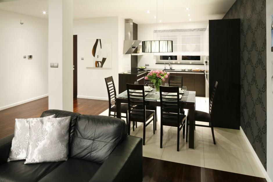 Urządzona w klasycznych Kuchnia z salonem 20   -> Kuchnia I Tapeta