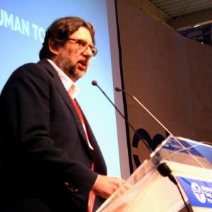 Wykład na temat Innowacja=Edukacja wygłosił Piotr Voelkel. Fot. Mariusz Golak.