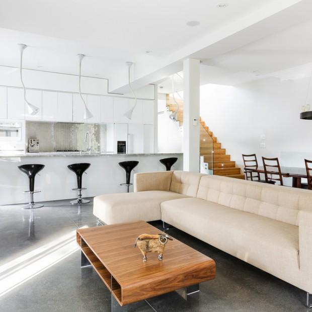 Nowoczesne wnętrze: piękne, jasne mieszkanie