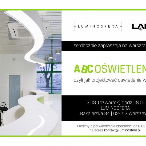 """Warsztaty dla architektów i projektantów """"ABC oświetlenia"""""""