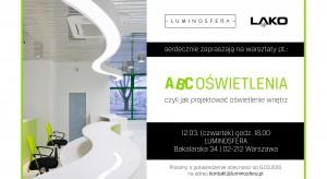 Marka Lako i Luminosfera zapraszają na warsztaty skierowane do projektantów oraz architektów na temat jak projektować oświetlenie wnętrz. Wydarzenie odbędzie się 12 marca o godzinie 18 w warszawskiej Luminosferze.